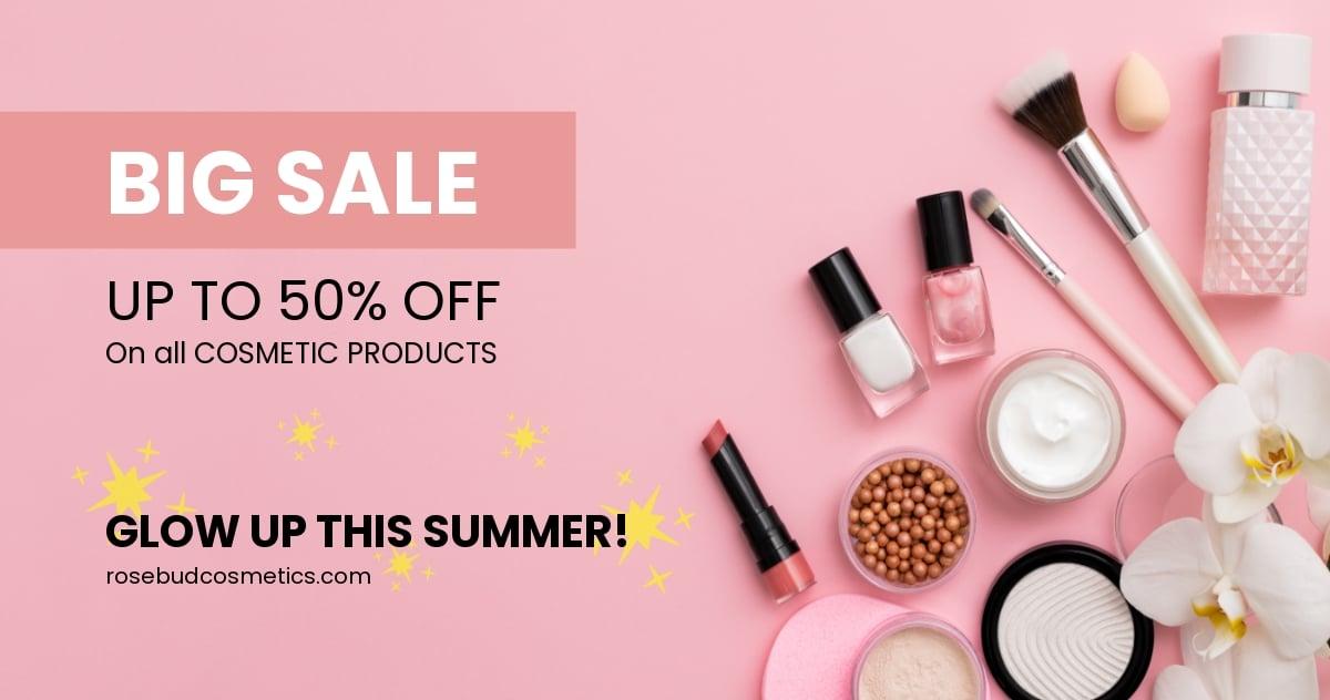 Cosmetics Shop Facebook Ad Template
