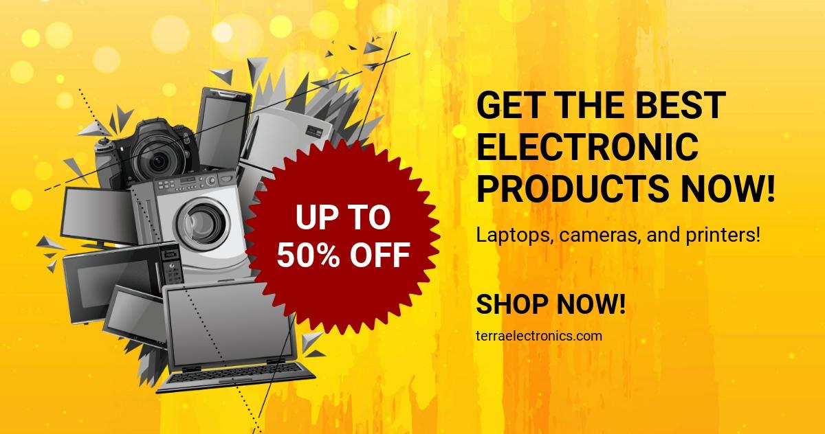 Electronics Shop Facebook Ad Template