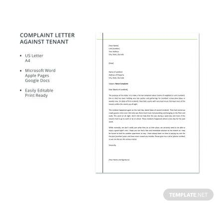 Free complaint letter templates download ready made template download one of our premium templates to craft a persuasive complaint letter to a business or agency regarding a problem with a product or service spiritdancerdesigns Image collections