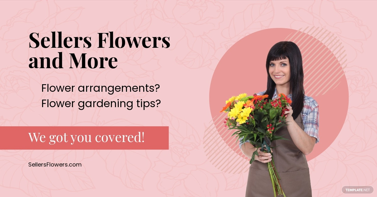 Floral Facebook Ad Template