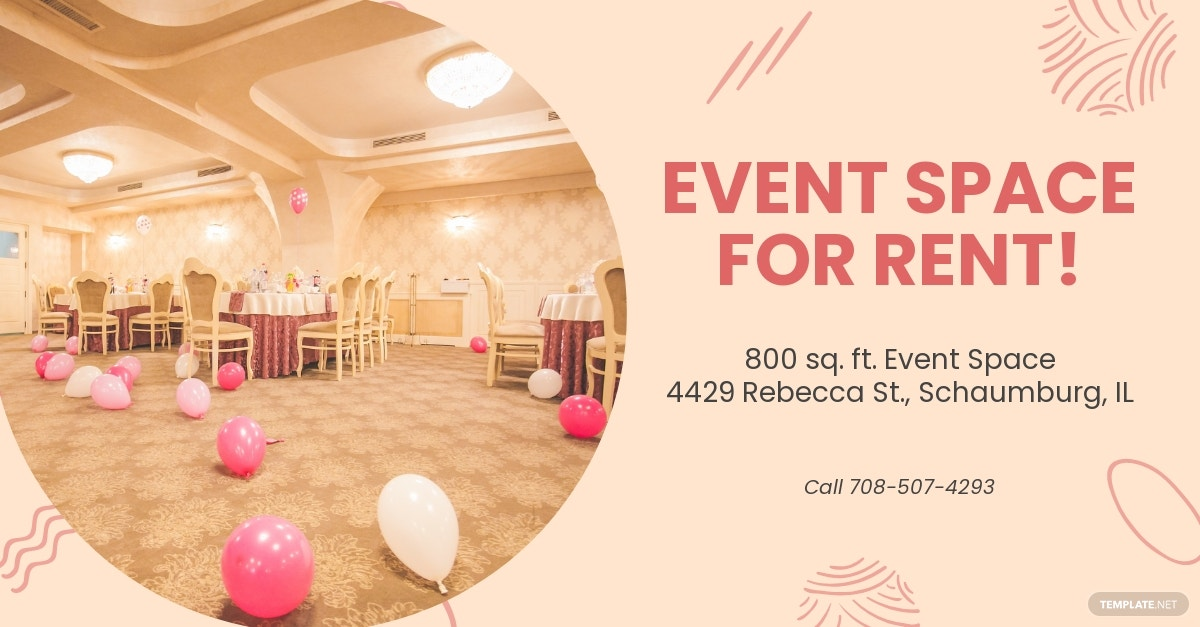 Event Space Facebook Ad Template