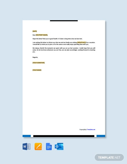 Free Simple Friendly Letter Template