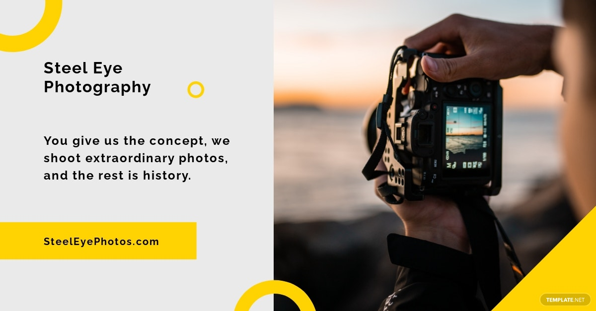 Photography Facebook Ad Template