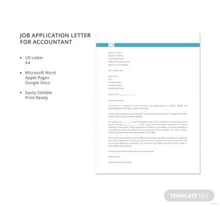 Free accountant resignation letter template in microsoft word apple free job application letter template for accountant expocarfo Images
