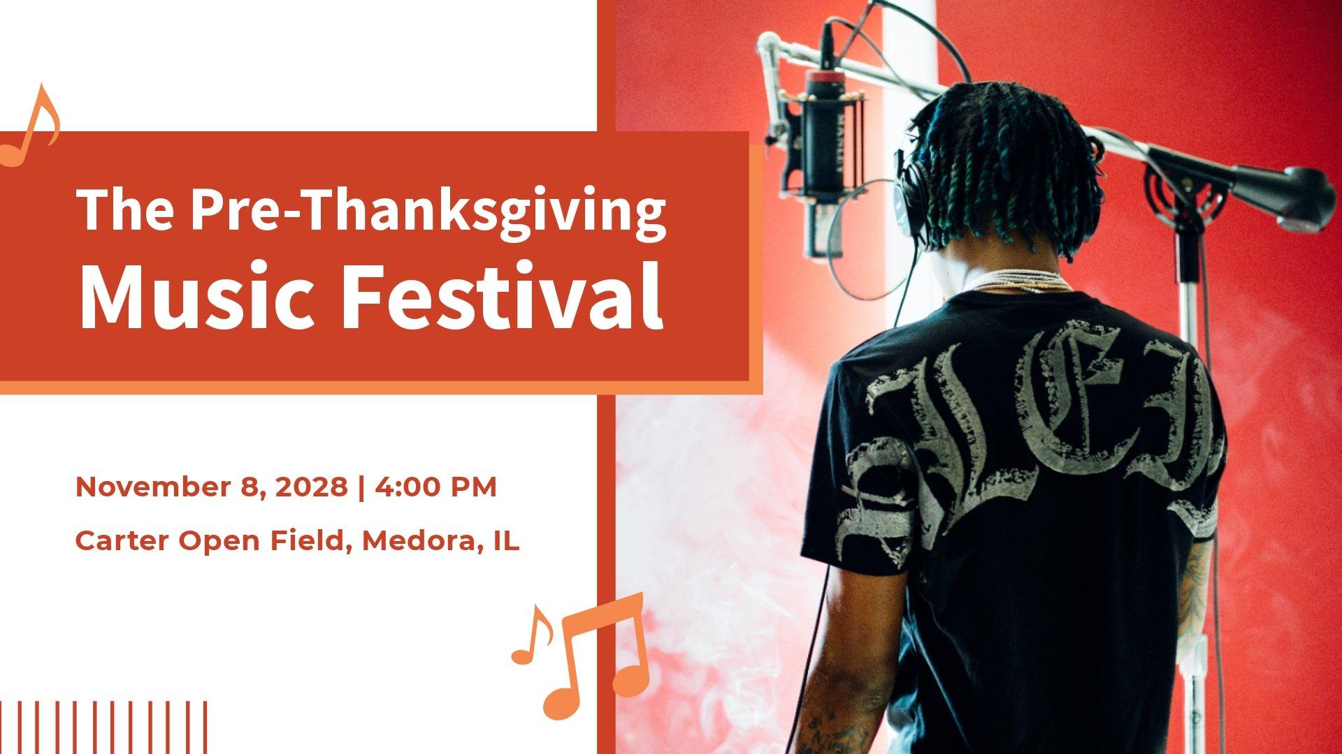 Music Festival Facebook Event Cover Template