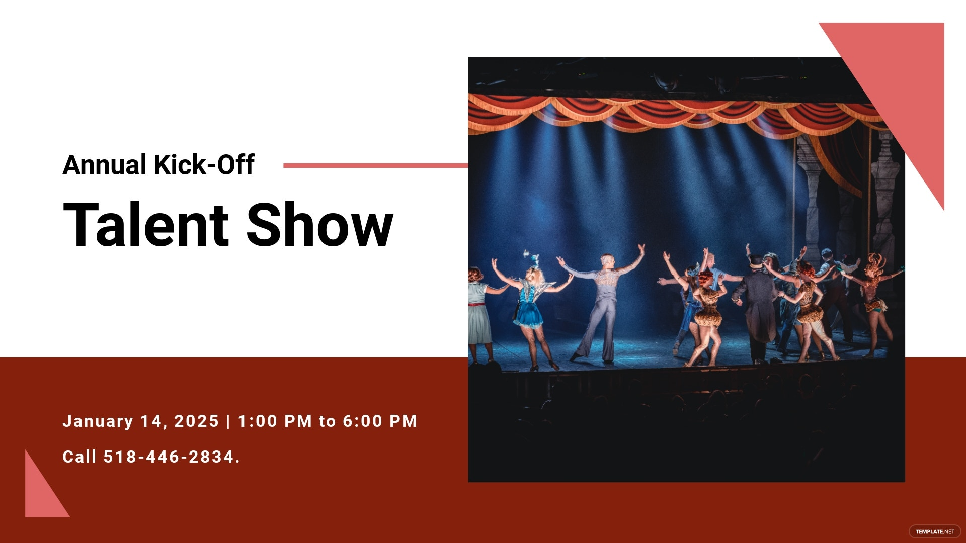 Annual Talent Show Facebook Event Cover Template