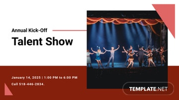 Annual Talent Show Facebook Event Cover