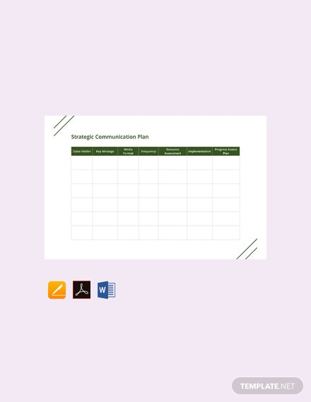 FreeStrategicCommunicationPlanTemplate