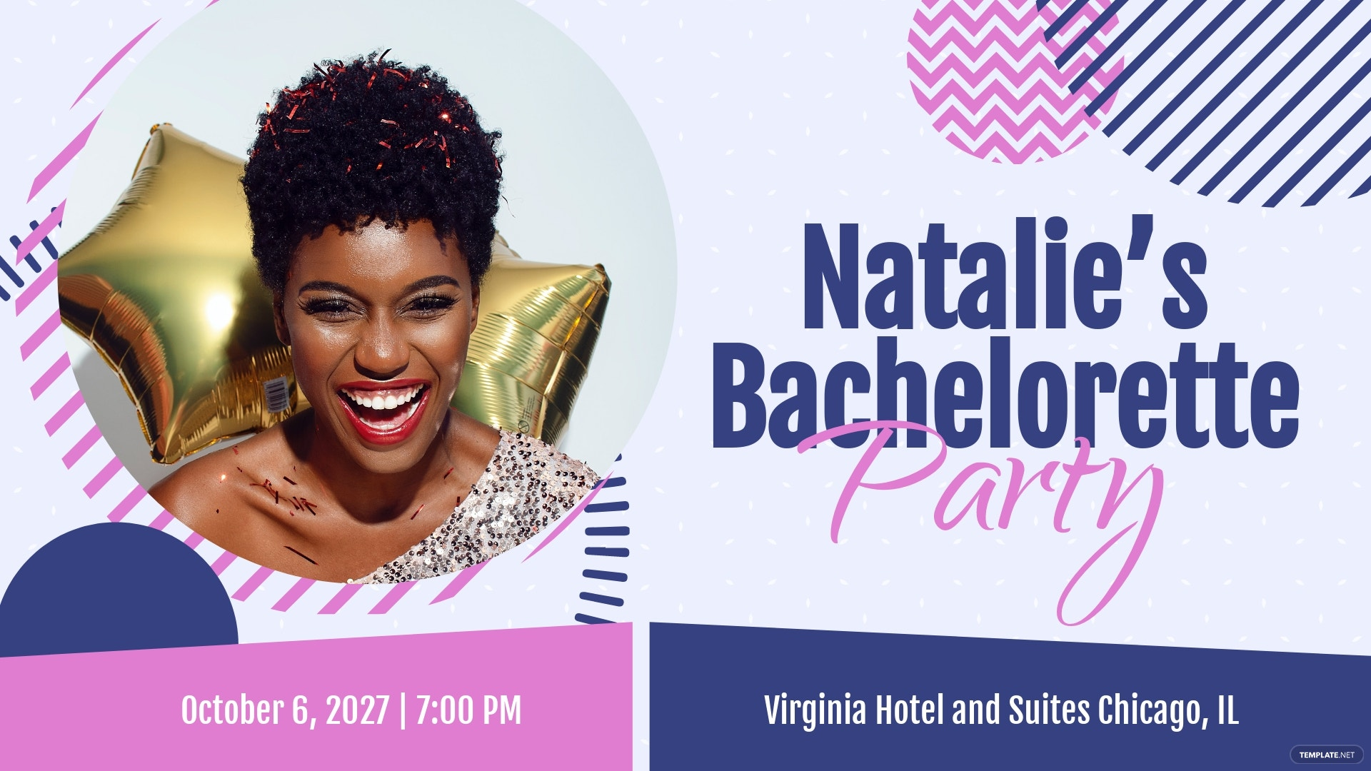 Bachelorette Facebook Event Cover Template
