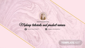 MakeUp Youtube Channel Art Template