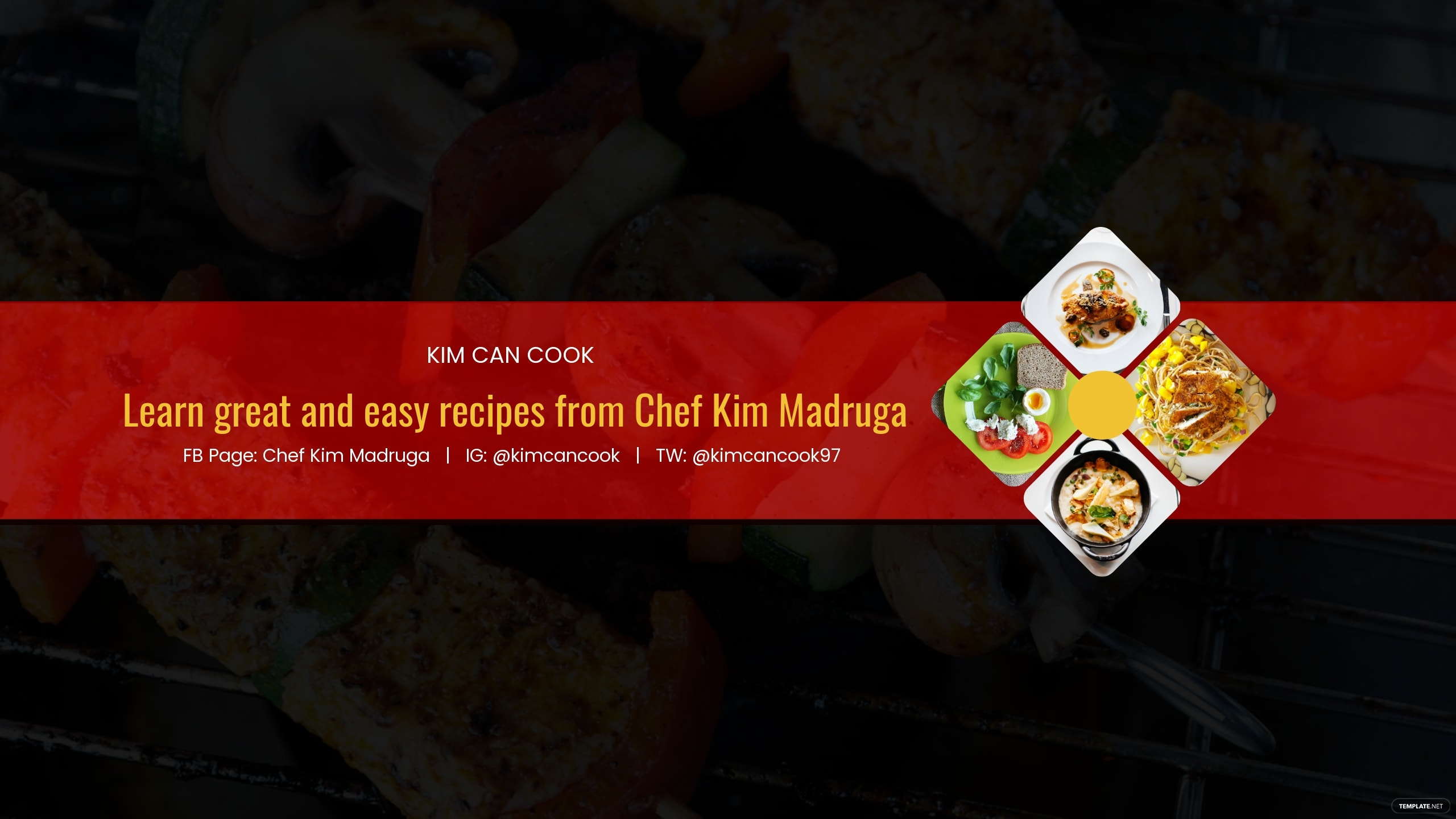 Cooking Youtube Channel Art Template.jpe
