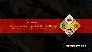 Cooking Youtube Channel Art Template