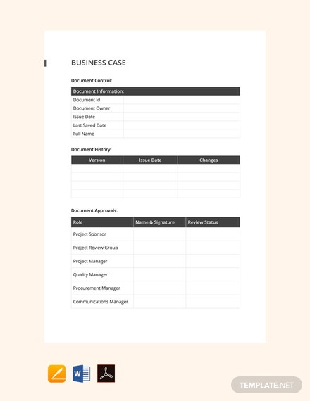 Free Simple Business Case Template