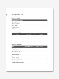 Simple Business Case Template