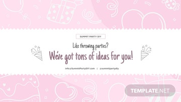 Party Ideas Youtube Channel Art Template