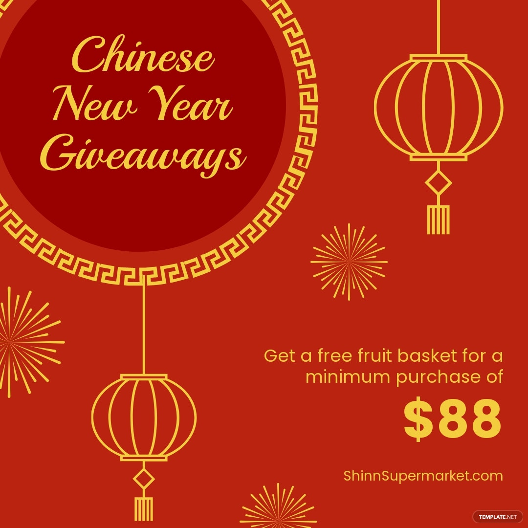 Chinese New Year Giveaway Instagram Post Template.jpe