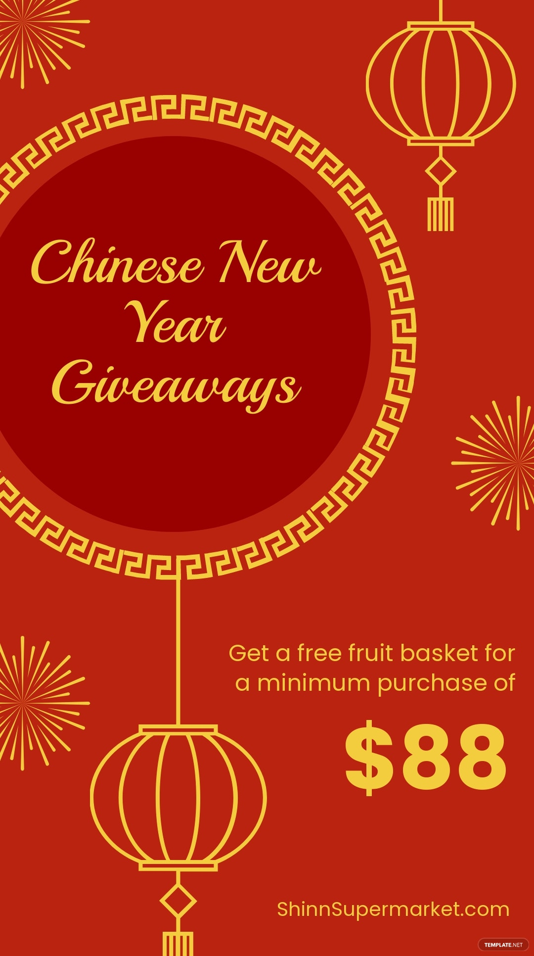 Chinese New Year Giveaway Whatsapp Post Template.jpe