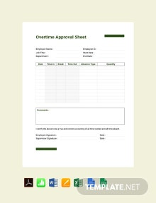 Overtime Approval Sheet Template