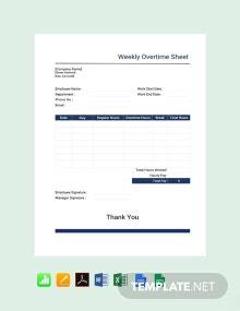 Weekly Overtime Sheet Template