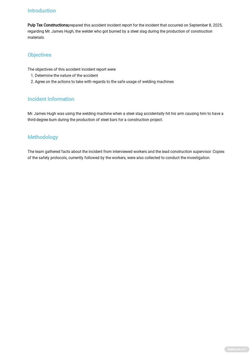 Free Accident Incident Report Template 1.jpe