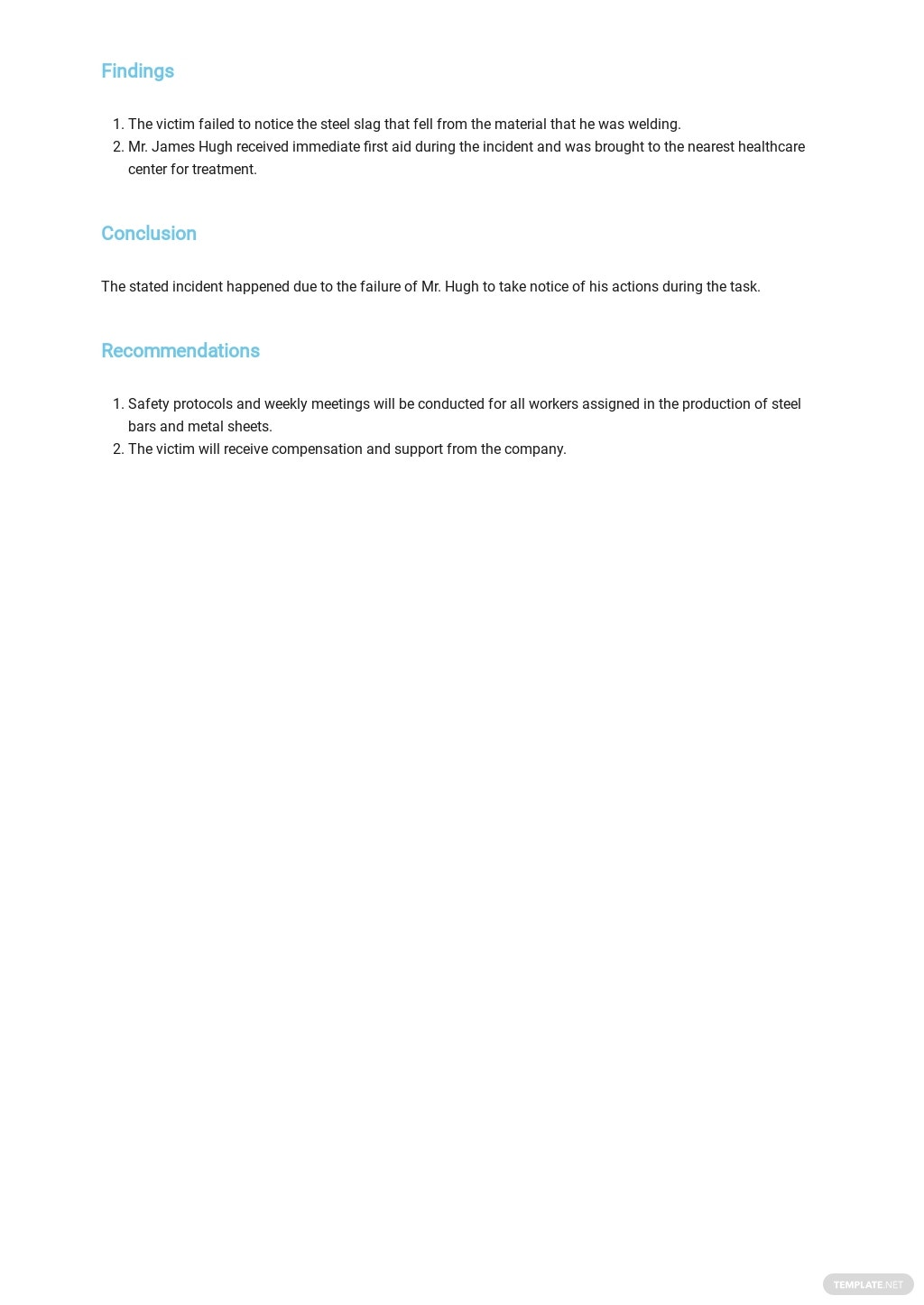 Free Accident Incident Report Template 2.jpe