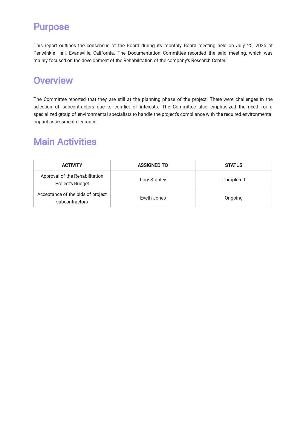Free Board Meeting Report Template 1.jpe