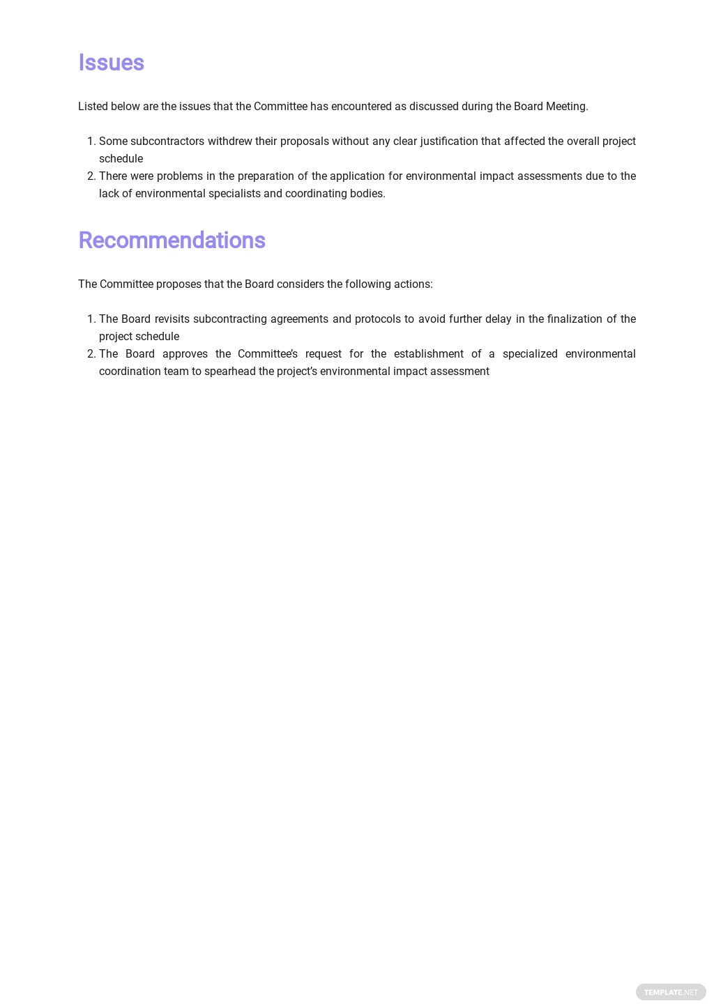 Free Board Meeting Report Template 2.jpe