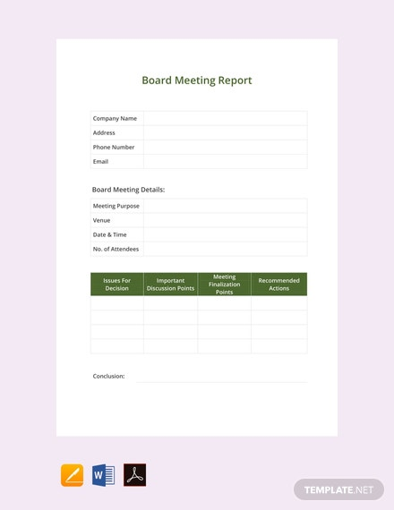 free board meeting report template 440x570 1