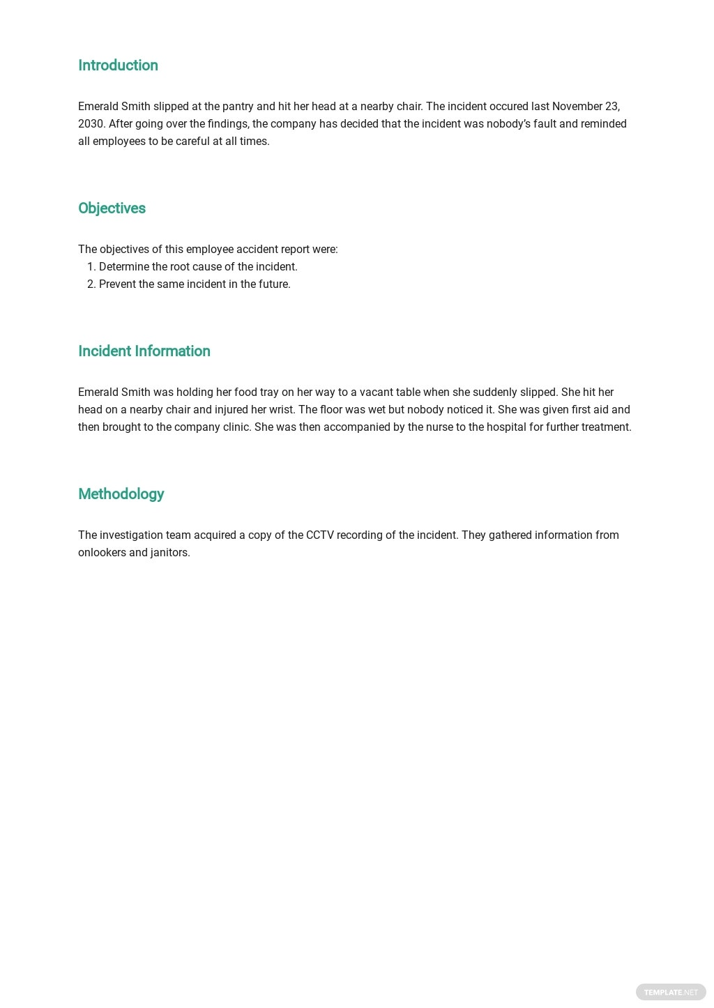 Free Employee Accident Report Template 1.jpe
