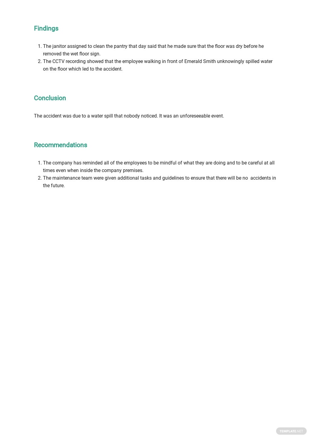 Free Employee Accident Report Template 2.jpe