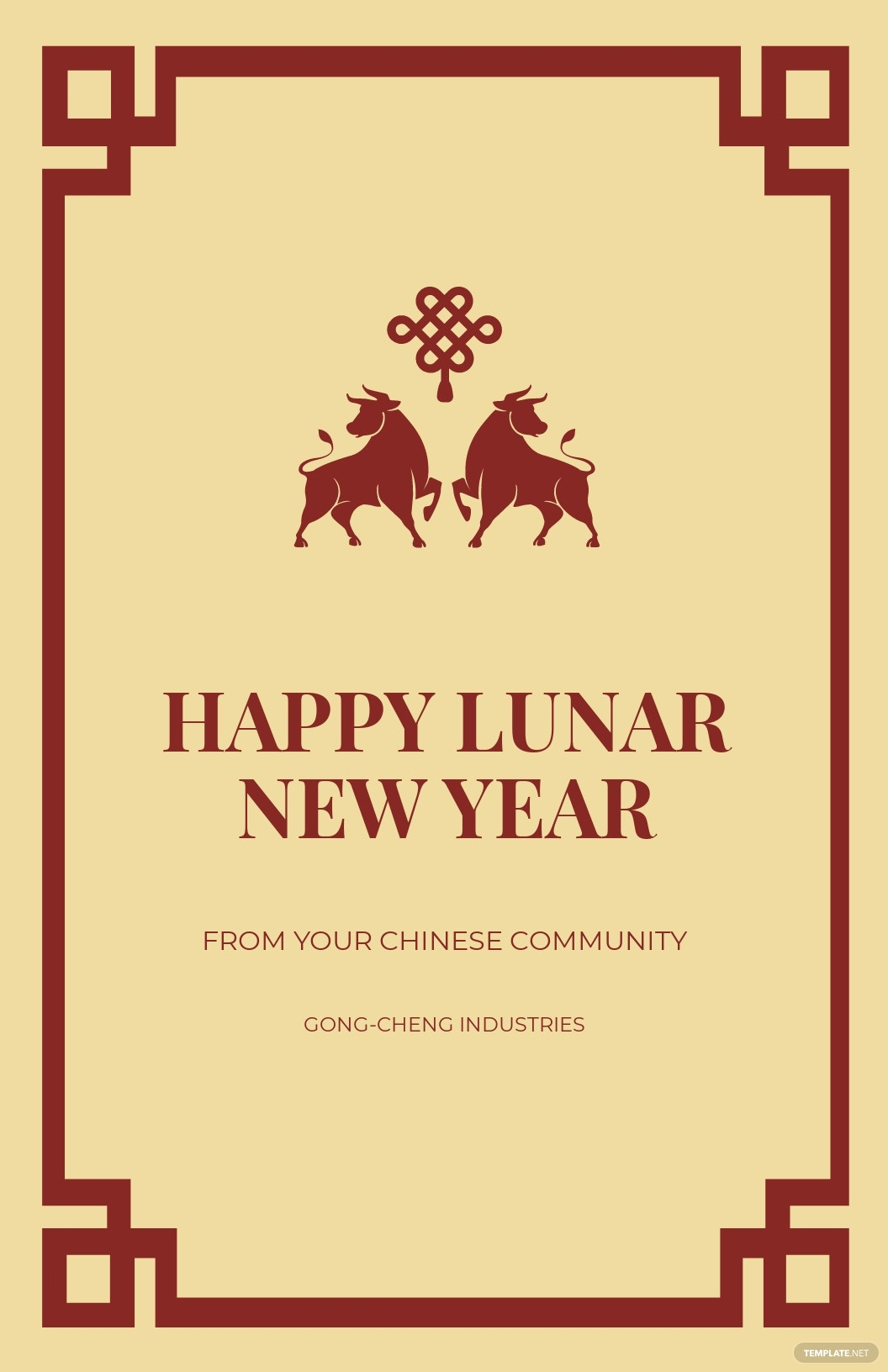 Vintage Chinese New Year Poster Template.jpe