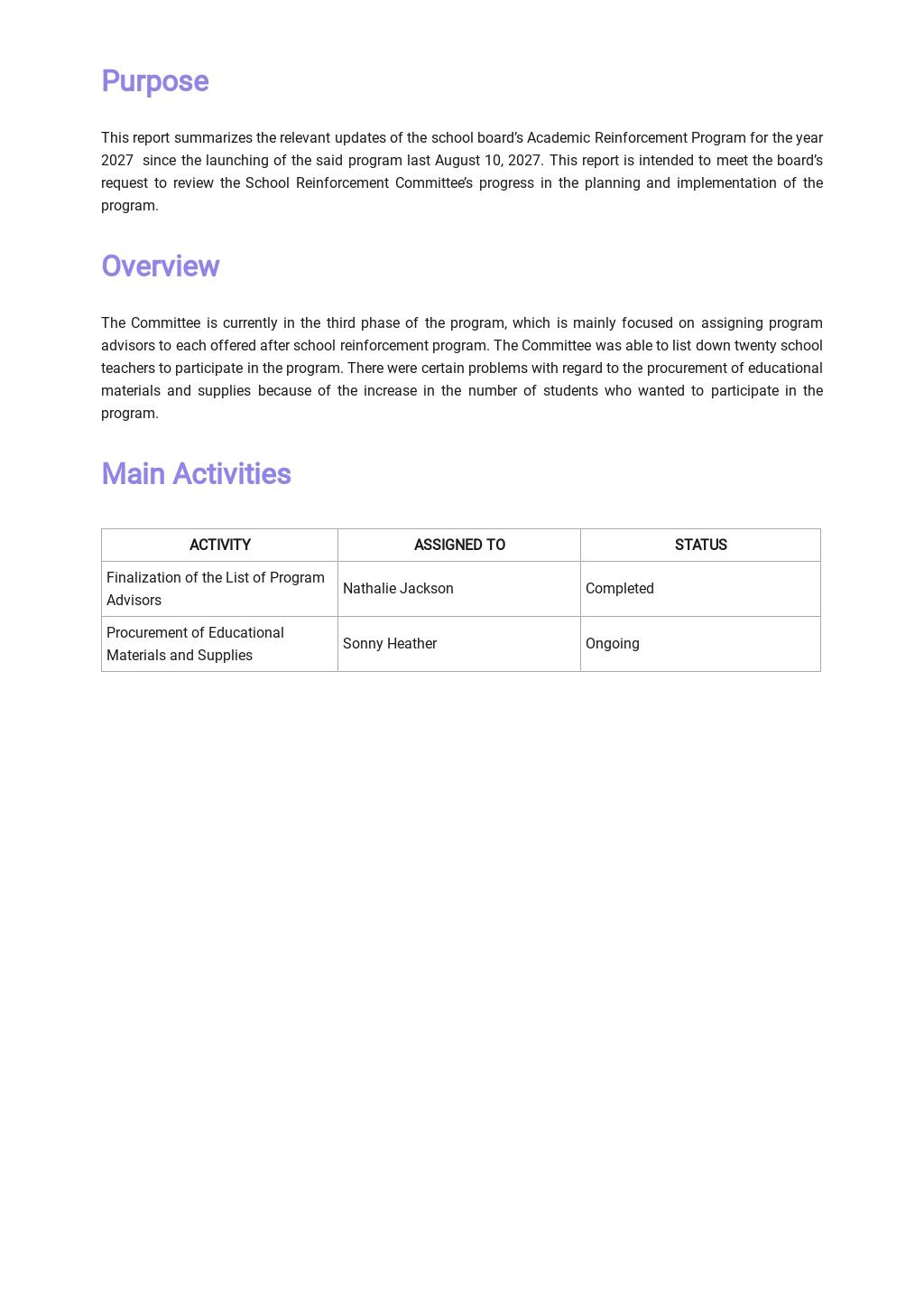 Free School Board Report Template 1.jpe