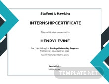 Free Law Internship Certificate Template