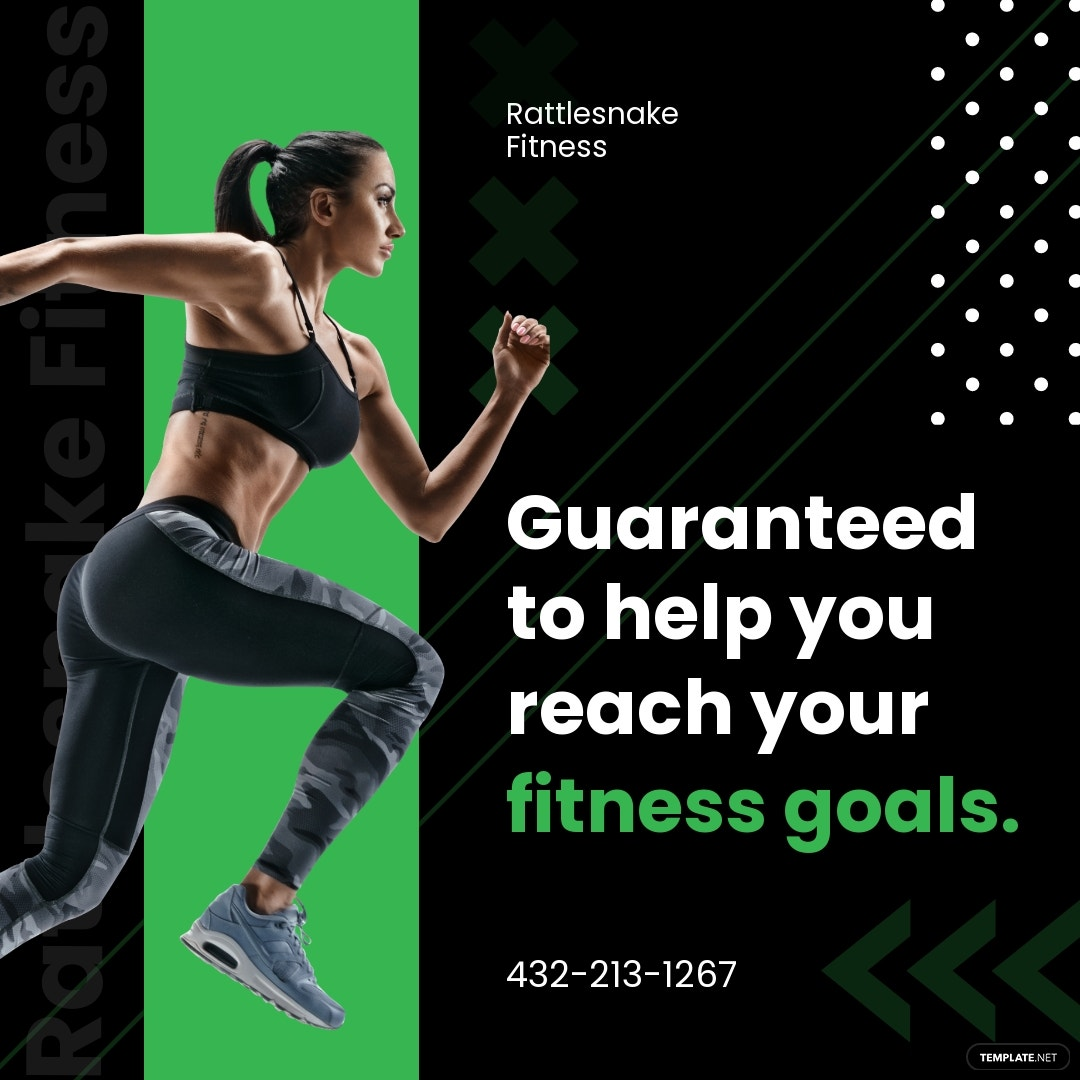 Fitness Instagram Ad Template