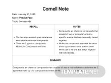 Free Blank Cornell Notes Template
