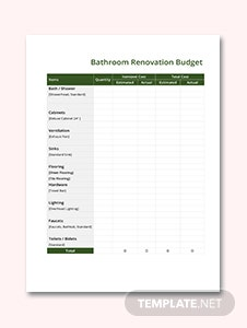 Home Renovation Budget Template in Microsoft Word, Excel | Template.net