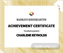 Baptism certificate template in psd ms word publisher kindergarten certificate template yadclub Choice Image