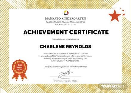 free kindergarten certificate template in illustrator template net