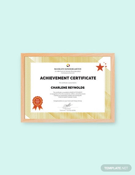 Free Kindergarten Certificate Template Download 200 Certificates