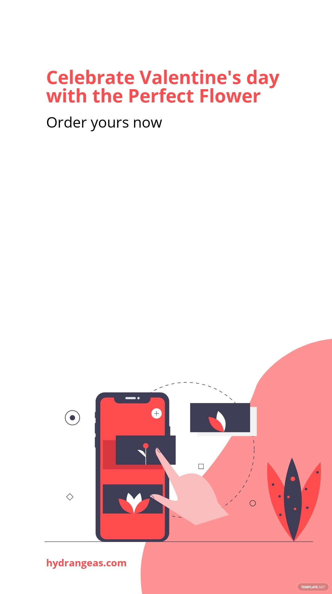 Floral Valentine's Day Instagram Story Template.jpe