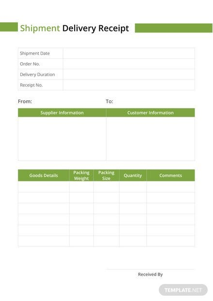 request for shipping information business form template shipment