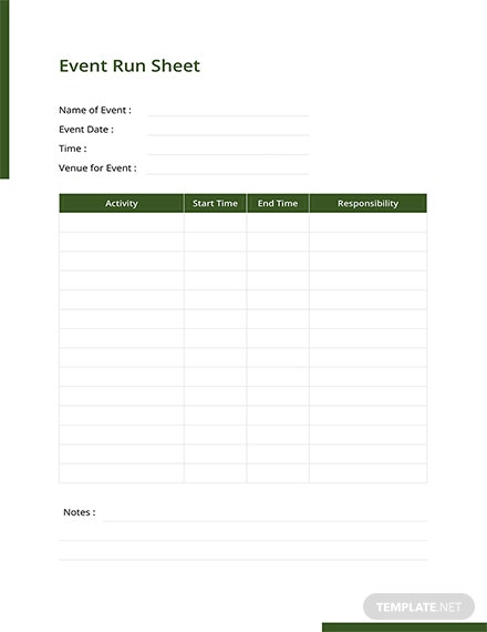 Production run sheet template download 239 sheets in for Event run sheet template
