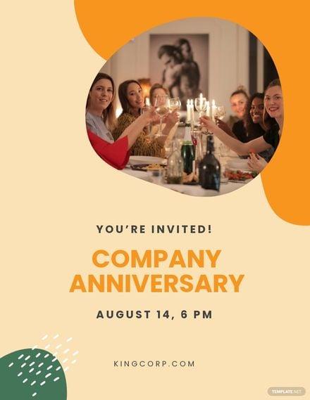 Anniversary Invitation Flyer Template.jpe