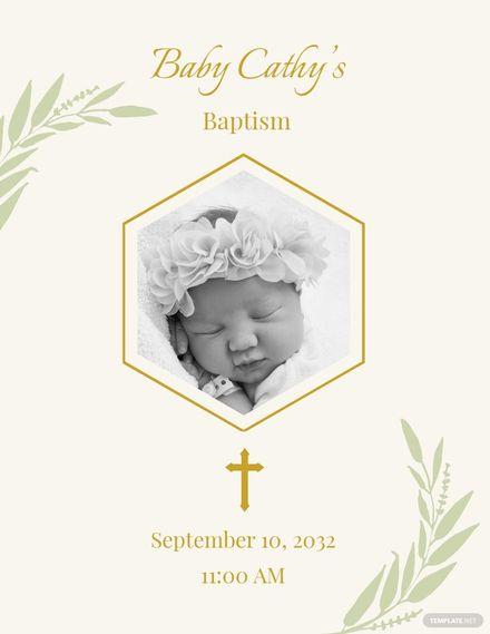 Baptism Invitation Flyer Template.jpe