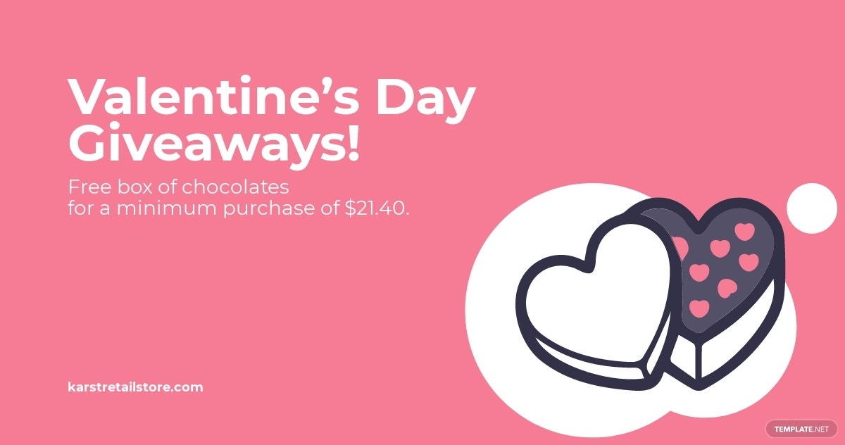 Valentine's Day Giveaway Facebook Post Template.jpe
