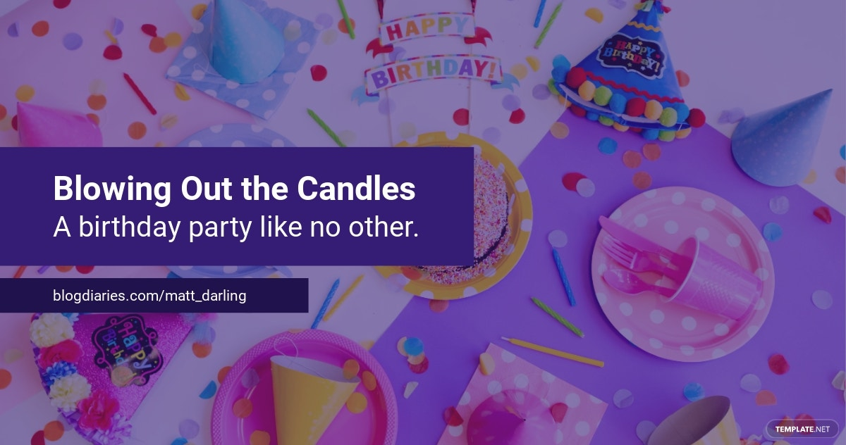Birthday Party Blog Banner Template