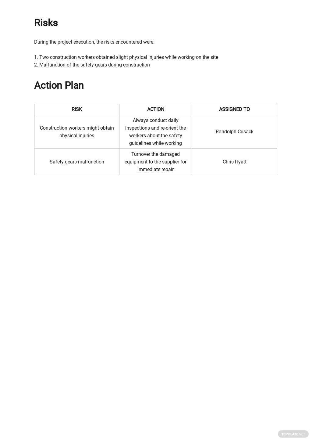 Free Monthly Safety Activity Report Template 3.jpe