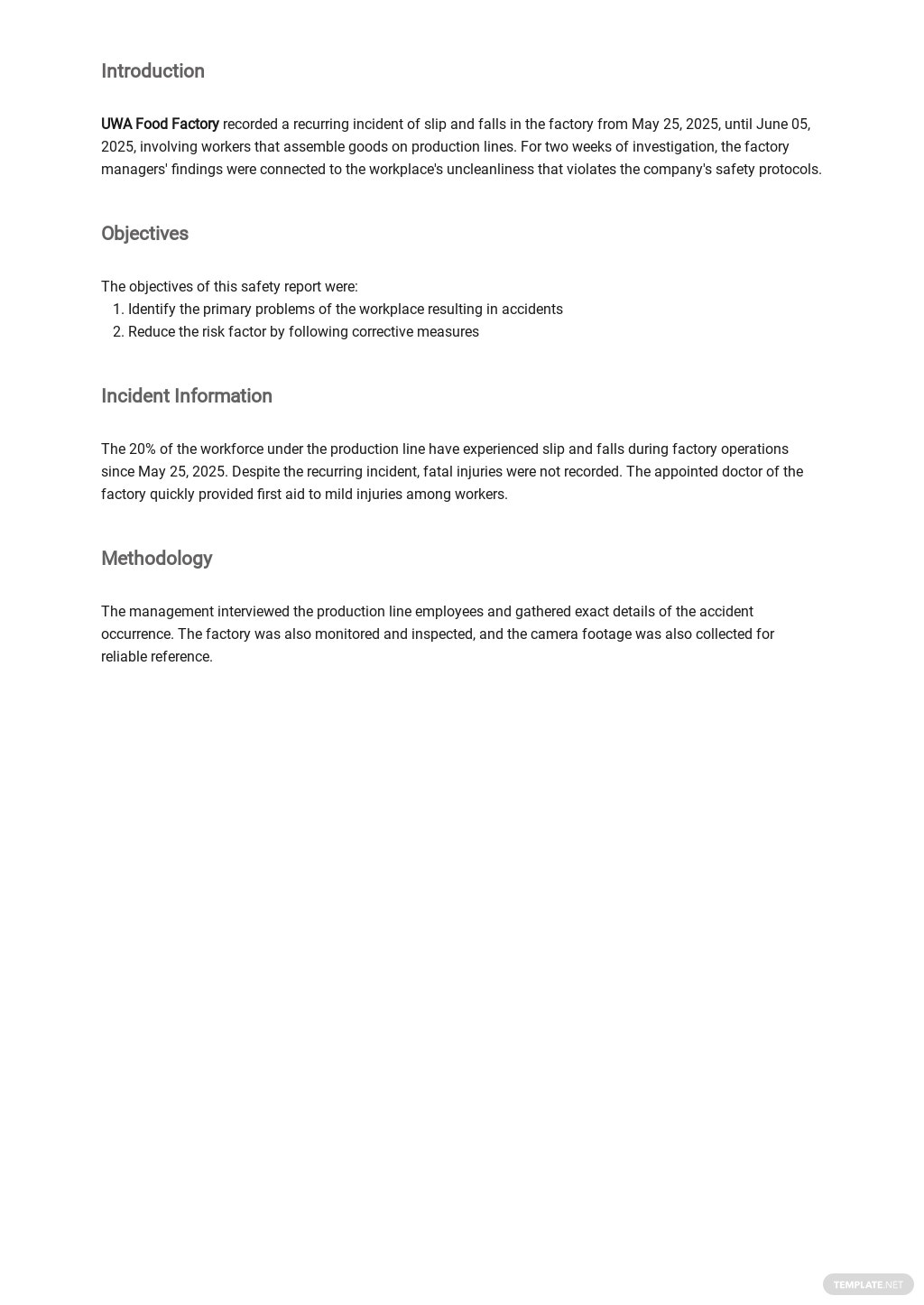 Free Daily Safety Report Template 1.jpe