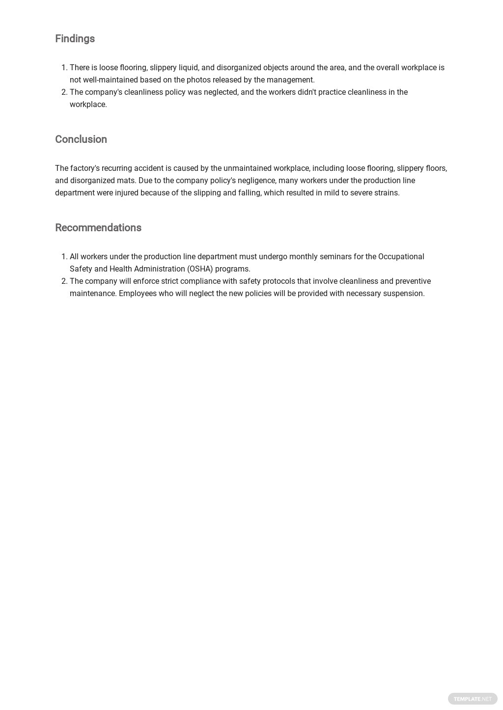 Free Daily Safety Report Template 2.jpe