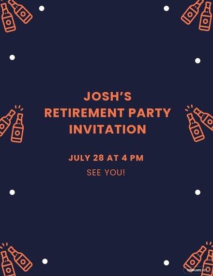 Retirement Invitation Flyer Template.jpe